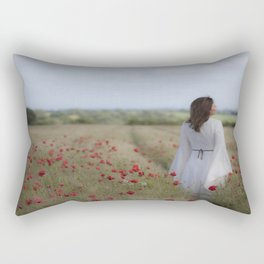 Dreaming in the field Rectangular Pillow