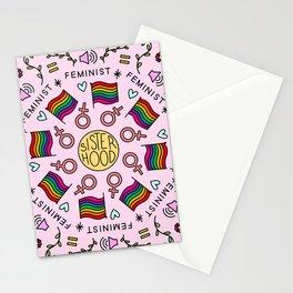 Sisterhood Feminist mandala Stationery Cards