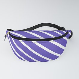 Lavender Blue Diagonal Stripes Fanny Pack