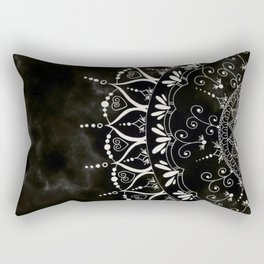 'If You Can't Control it Let it Go' Quote Mandala Rectangular Pillow