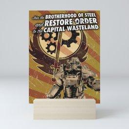 Fallout 3 - Brotherhood of Steel recruitment flyer Mini Art Print