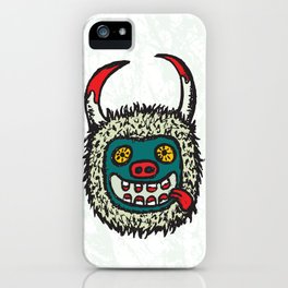 Traditional Croatian carnival mask from the region around Rijeka iPhone Case