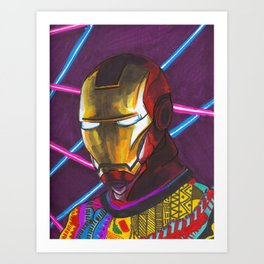 Iron Man in a Cosby sweater Art Print