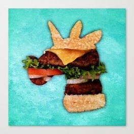 Unicorn Burger Canvas Print