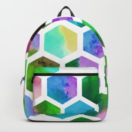 Green Hexagons Backpack
