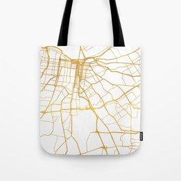 LOUISVILLE KENTUCKY CITY STREET MAP ART Tote Bag