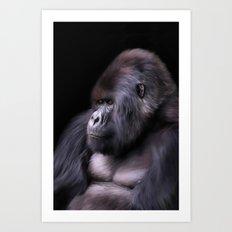 Mountain Gorilla Art Print
