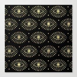 Golden Eyes Canvas Print