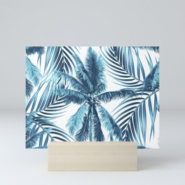 South Pacific palms II - oceanic Mini Art Print