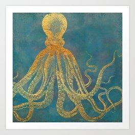 Deep Sea Life Octopus Art Print
