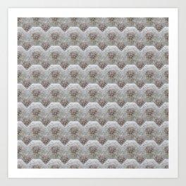 Dandelion Heart - Octahedron - Mosaik Nature Herb Pattern Art Print