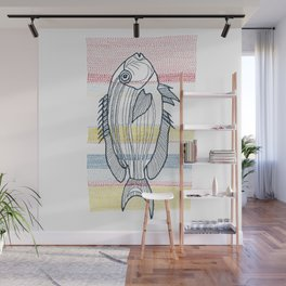 Stitches: Fish Wall Mural