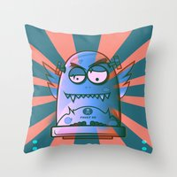fault Throw Pillows featuring Fault 45 02 (its not his fault) by Face Leakage