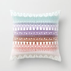 Triangle Gradient Earthy Mix Throw Pillow