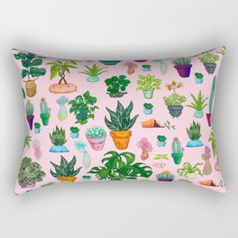 ALL THE POTTED PLANTS Rectangular Pillow