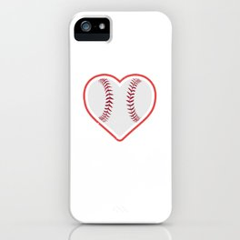 Vintage Baseball Heart - Valentines Day Boys Girls Kids iPhone Case