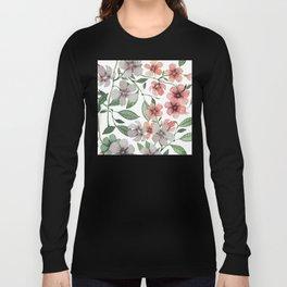 FLOWERS WATERCOLOR 12 Long Sleeve T-shirt