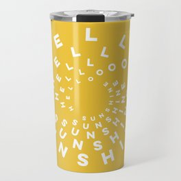 Hello Sunshine #minimal #typography #summervibes Travel Mug