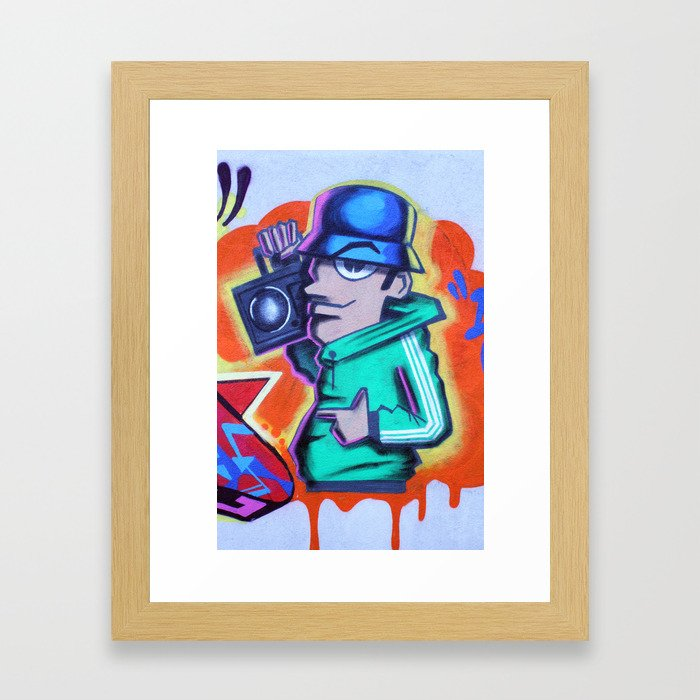 80s B-Boy Framed Art Print