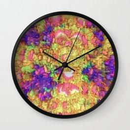 Neon Extrusion III Wall Clock