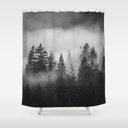 Forest of Fog Shower Curtain