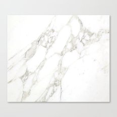 White Real Marble Canvas Print