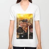 hetalia V-neck T-shirts featuring Conquer by Mieu