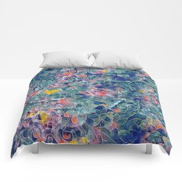 Electric Flowers Comforters