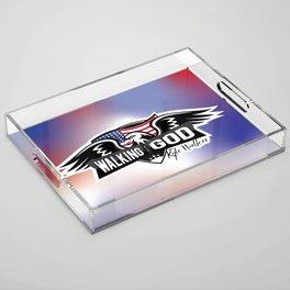 WWGKW Logo - Red, White & Blue Acrylic Tray