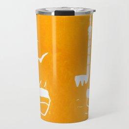 Home in Yellow Travel Mug