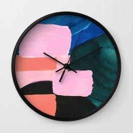 Mesozoic blocks Wall Clock