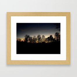 Cades Cove Sunset Framed Art Print