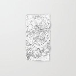 Seoul White Map Hand & Bath Towel