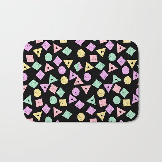 Mikkel - pastel shapes minimal abstract pattern design charlotte winter prints Bath Mat