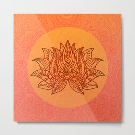 Lotus Flower of Life Meditation  Art Metal Print