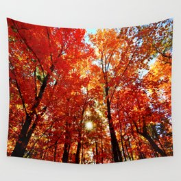 Sun in the Trees Wall Tapestry