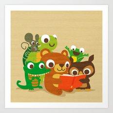 Sharing is Caring Art Print
