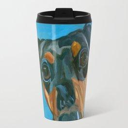 Sassy the Dashchund Dog Portrait Travel Mug