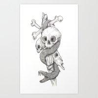 Serpent of Skulls Art Print