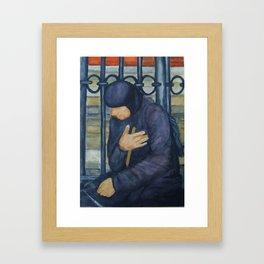 Beggar in Piazza di Trevi, Rome Framed Art Print