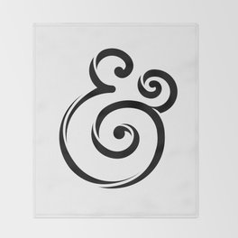 InclusiveKind Ampersand Throw Blanket