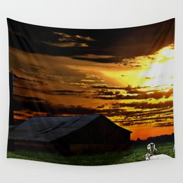 Sunshine Cattle Wall Tapestry