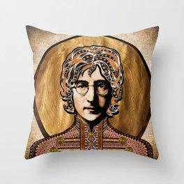 Boho Beatle (John) Throw Pillow