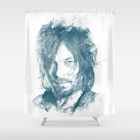daryl Shower Curtains featuring DARYL DIXON by Chadlonius
