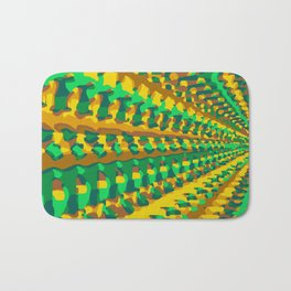 green yellow and brown painting geometric graffiti abstract background Bath Mat