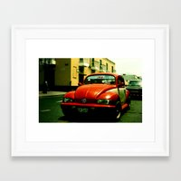 beetle Framed Art Prints featuring Beetle by very giorgious