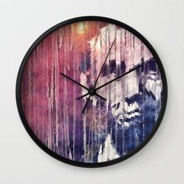 President Abraham Lincoln Abstract Wall Clock