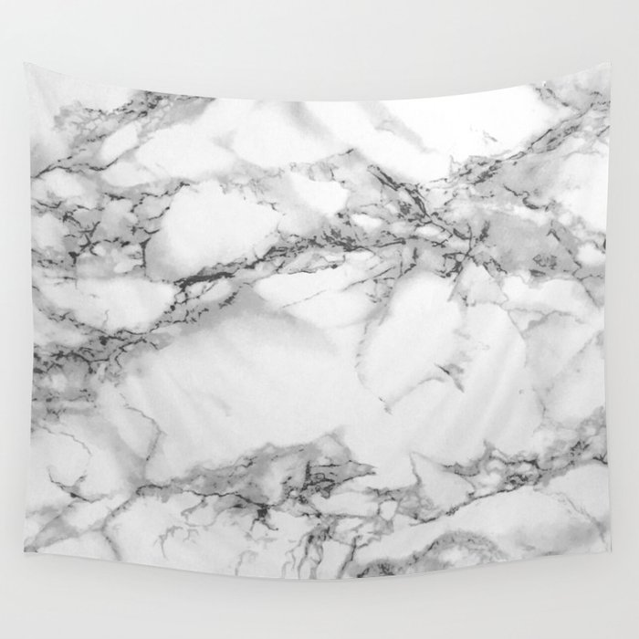 Marble - Gray Wall Tapestry