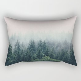 Between every two pines is a doorway to a new world Rectangular Pillow