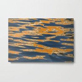 Aqua Abstract Metal Print